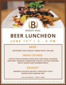 Beer Luncheon June 2016